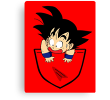 Pocket Goku Canvas Print