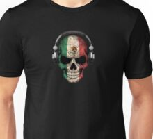 Dj Skull with Mexican Flag Unisex T-Shirt