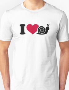 I love Snails Unisex T-Shirt