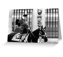 UK England  queen Elizabeth 2 Buckingham Palace 1970 Greeting Card