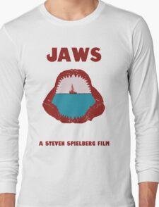 Jaws Minimalist Design  Long Sleeve T-Shirt