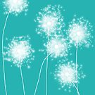 Turquoise Dandelions by VieiraGirl