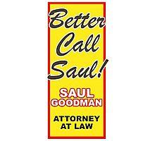 Better Call Saul - Vertical Photographic Print
