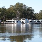 Houseboats along The River Murray, Vic. Australia. by Rita Blom