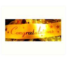 Congratulations Banner Art Print