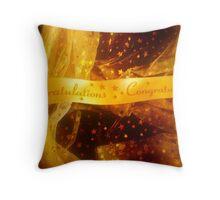 Golden Congratulations Throw Pillow