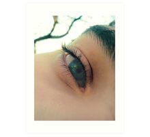 tus ojos verdes, oasis para mi sed... Art Print