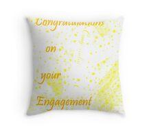 Engagement Congratulations Throw Pillow