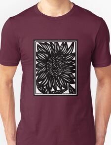 Bibliophile Flowers Black and White Unisex T-Shirt