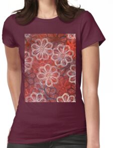 Blossoms 1 - Monoprint  Print and Ink  Womens Fitted T-Shirt
