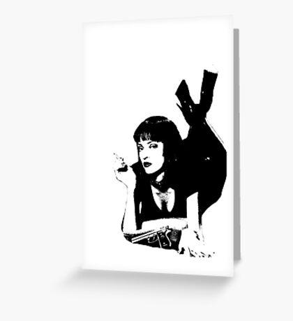 Pulp Fiction Mia Wallace Greeting Card