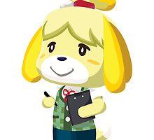 Isabelle Animal Crossing New Leaf Vector Print by niymi