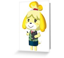 Isabelle Animal Crossing New Leaf Vector Print Greeting Card