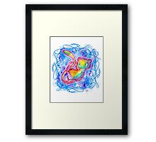 Cute Galaxy Mew T shirts + More (watercolor) Framed Print
