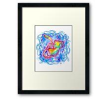 Cute Galaxy Mew T shirts + More (watercolor) Jonny2may Framed Print