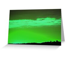 Green Sky -Available As Art Prints-Mugs,Cases,Duvets,T Shirts,Stickers,etc Greeting Card