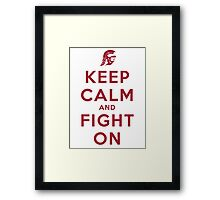 Keep Calm and Fight On (Cardinal Letters) Framed Print