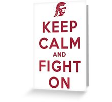 Keep Calm and Fight On (Cardinal Letters) Greeting Card
