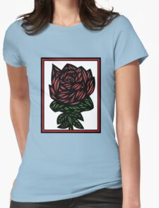 Litterateur Flowers Red Green White T-Shirt