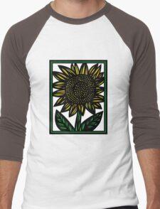 Panacea Flowers Yellow Green Black Men's Baseball ¾ T-Shirt