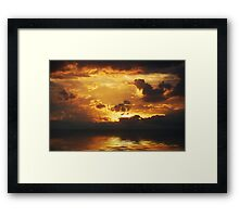 The Storm Approaches Framed Print