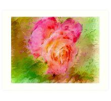 "Rose a Fantasy  / inspired by Georgia O""Keefe Art Print"