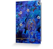 hang the stars from the sky at night Greeting Card