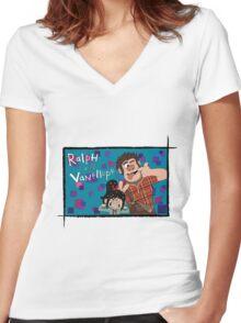 RALPH & VANELLOPE Women's Fitted V-Neck T-Shirt