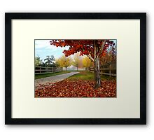 October Color Palette Framed Print