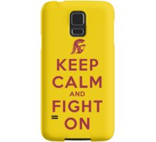 Keep Calm and Fight On (Cardinal Letters) Samsung Galaxy Case/Skin