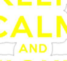 Keep Calm and Fight On (Gold Letters) Sticker
