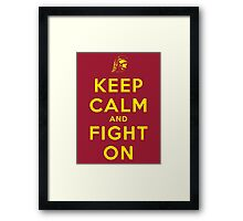 Keep Calm and Fight On (Gold Letters) Framed Print