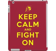 Keep Calm and Fight On (Gold Letters) iPad Case/Skin