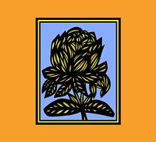 Lavish Flowers Yellow Blue Black Womens Fitted T-Shirt