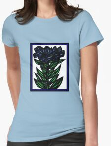 Inundate Flowers Blue Green White T-Shirt