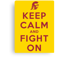 Keep Calm and Fight On (Gold iPhone Case) Canvas Print