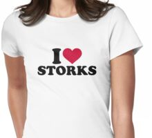 I love storks Womens Fitted T-Shirt