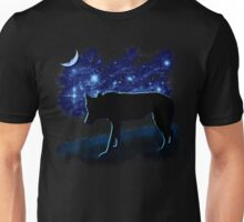 Wolf Stalking by Moonlight Unisex T-Shirt