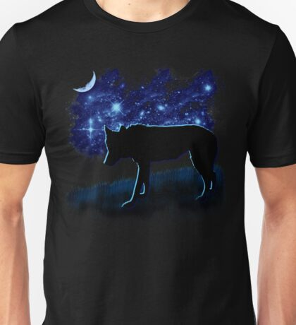 Wolf Stalking by Moonlight Unisex T-Shirt