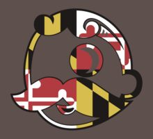 Maryland Flag on Beer Face Kids Clothes