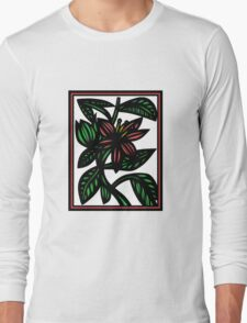 Susurrous Flowers Red Green White T-Shirt