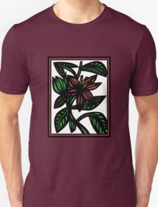 Susurrous Flowers Red Green White Unisex T-Shirt
