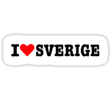 I love sverige Sticker
