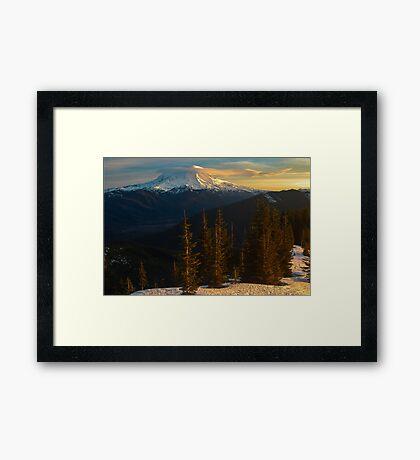 Sunrise View of Mount Rainier Framed Print
