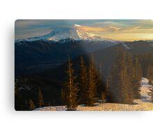 Sunrise View of Mount Rainier Metal Print