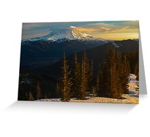 Sunrise View of Mount Rainier Greeting Card