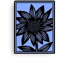 Delirium Flowers Blue Black Canvas Print