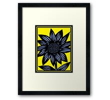 Clandestine Flowers Yellow Blue Black Framed Print