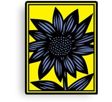 Clandestine Flowers Yellow Blue Black Canvas Print