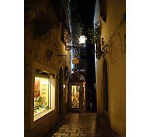 strolling along Taormina Photographic Print